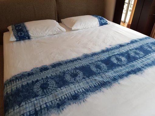เครื่องนอน ผ้ามัดย้อม indigo dye ไร่เคียงน้ำ กบินทร๋บุรี
