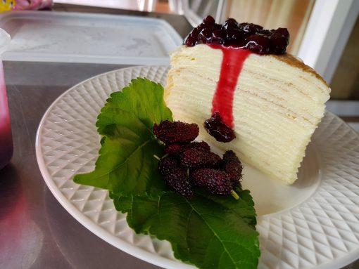มัลเบอรี่เครปเค้ก ไร่เคียงน้ำ กบินทร๋บุรี